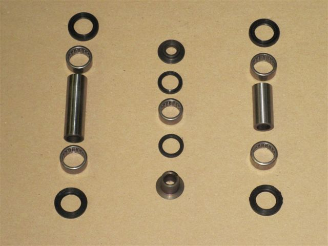 Bearing set for the cradle